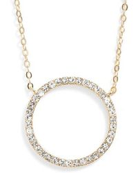 Nordstrom - Pave Open Circle Pendant Necklace - Lyst