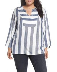 Two By Vince Camuto - Bell Sleeve Stripe Top - Lyst