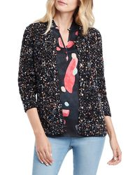 NIC+ZOE Confetti Sweater Jacket - Black
