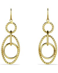 David Yurman - 'mobile' Small Link Earrings In Gold - Lyst