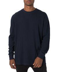 Zanerobe - Rugger Oversize Waffle Knit Long Sleeve T-shirt - Lyst