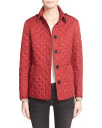 Burberry Ashurst Quilted Jacket - Blue