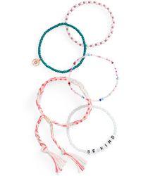 BP. Multi Bead Thread Bracelet - Purple