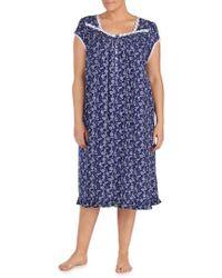 Eileen West - Print Nightgown - Lyst