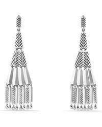 David Yurman Stax Fringe Earrings With Diamonds - Metallic