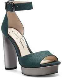 Jessica Simpson Everyn Platform Ankle Strap Sandal - Green