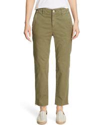 Rag & Bone Buckley Crop Chino Pants - Green