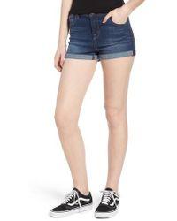 1822 Denim - 1822 Cuffed Denim Shorts - Lyst