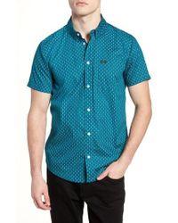 RVCA   Arrowed Woven Shirt   Lyst