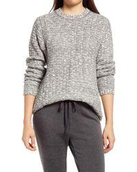 Lou & Grey Ella Mélange Sweater - Gray