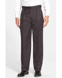 Berle - Self Sizer Waist Pleated Classic Fit Dress Pants - Lyst