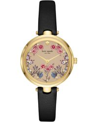 Kate Spade - Holland Floral Leather Strap Watch - Lyst