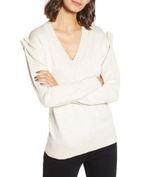 Chelsea28 - Pleat Shoulder Sweater - Lyst