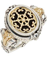 Konstantino Calypso Signet Ring - Metallic