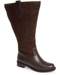 David Tate - 'best' Calfskin Leather & Suede Boot - Lyst