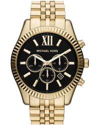 Michael Kors 'large Lexington' Chronograph Bracelet Watch - Multicolor
