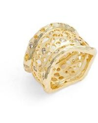 Melinda Maria - Honey Cigar Ring - Lyst