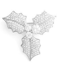 Nadri Mistletoe Pin - Metallic