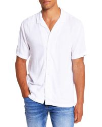 River Island - Short Sleeve Button-up Camp Shirt - Lyst
