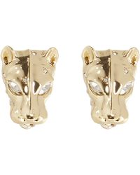 Alexis Bittar Panther Head Leverback Post Ea - Metallic