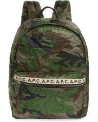 A.P.C. Sac A Dos Marc Nylon Backpack - Green