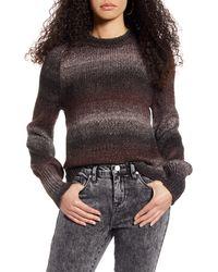 BP. Ombré Metallic Stripe Sweater - Gray