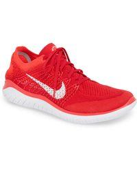 58f5d2b49bd6 Lyst - Nike Free Rn Flyknit 2018 Running Shoe in Red for Men