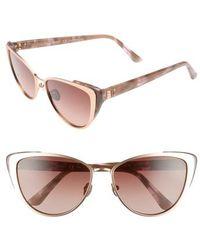CALVIN KLEIN 205W39NYC - 57mm Cat Eye Sunglasses - Lyst