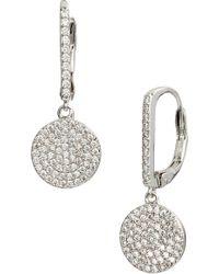Nordstrom Pave Bar Disc Drop Earrings Lyst