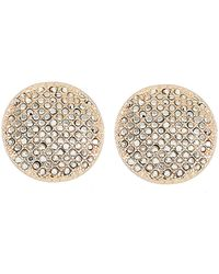 Panacea Pavé Button Stud Earrings - Metallic