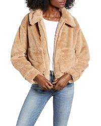 4si3nna - Teddy Faux Fur Jacket - Lyst