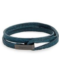 Ferragamo   Double Wrap Leather Bracelet   Lyst