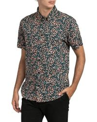 RVCA | Barrow Short Sleeve Woven Shirt | Lyst