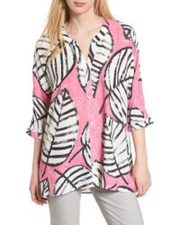 NIC+ZOE - Etched Leaves Top - Lyst