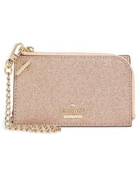 Kate Spade - Burgess Court - Ivey Glitter Leather Card Holder - - Lyst