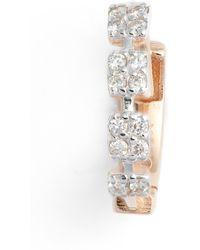 Kismet by Milka - Four Square Diamond Hoop Earring - Lyst