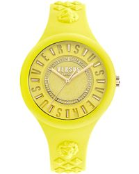 Versus Versus By Versace Fire Island Silicone Strap Watch - Yellow