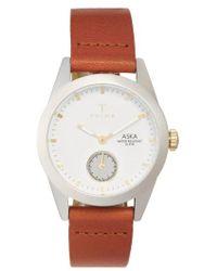 Triwa | 'aska' Leather Strap Watch | Lyst