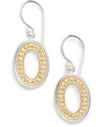 Anna Beck - Open Oval Drop Earrings - Lyst