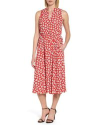 Anne Klein - Zuma Petal Drawstring Midi Dress - Lyst