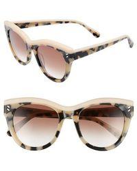 Stella McCartney - 51mm Cat Eye Sunglasses - Avana - Lyst