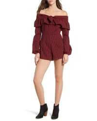 The Fifth Label - Campus Off The Shoulder Romper - Lyst