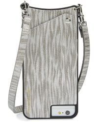 Bandolier - Emma Faux Leather Iphone 6/7/8 & 6/7/8 Plus Crossbody Case - Metallic - Lyst