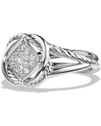 David Yurman Infinity Ring With Diamonds - Metallic