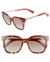 Kate Spade - Caelyns Basic 52mm Sunglasses - Dark Havana/ Burgundy - Lyst
