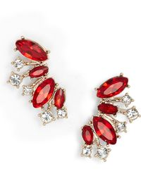 Givenchy - Crystal Cluster Ear Crawlers - Lyst