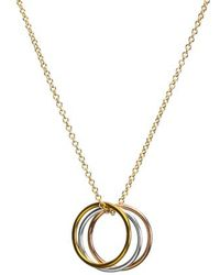 Dogeared - Triple Karma Pendant Necklace - Lyst