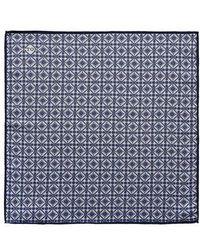 Eton of Sweden - Tile Pocket Silk Pocket Square - Lyst