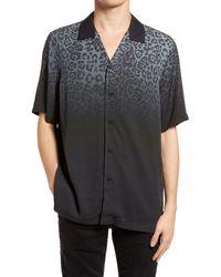 Ksubi Dusk Ombre Leopard Relaxed Fit Shirt - Black