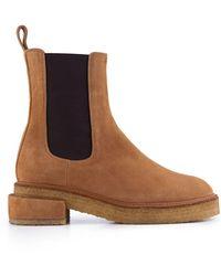 FRAME Le Canon Platform Chelsea Boot - Brown